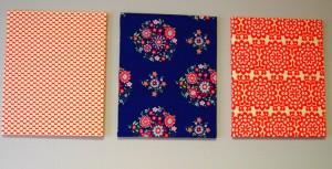 Fabric-wrapped Canvases for the Office